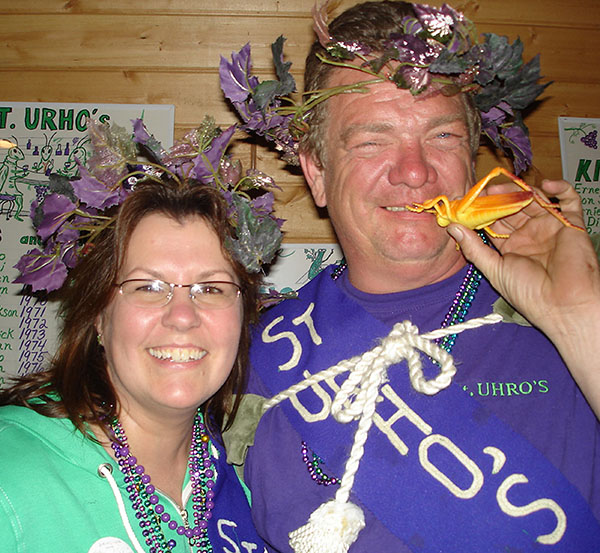 St. Urho's King and Queen 2008, Mary Barie and Larry Gooden.