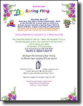 Download Spring Fling Flyer as a PDF