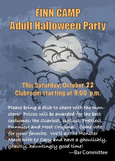 Adult Halloween Poster