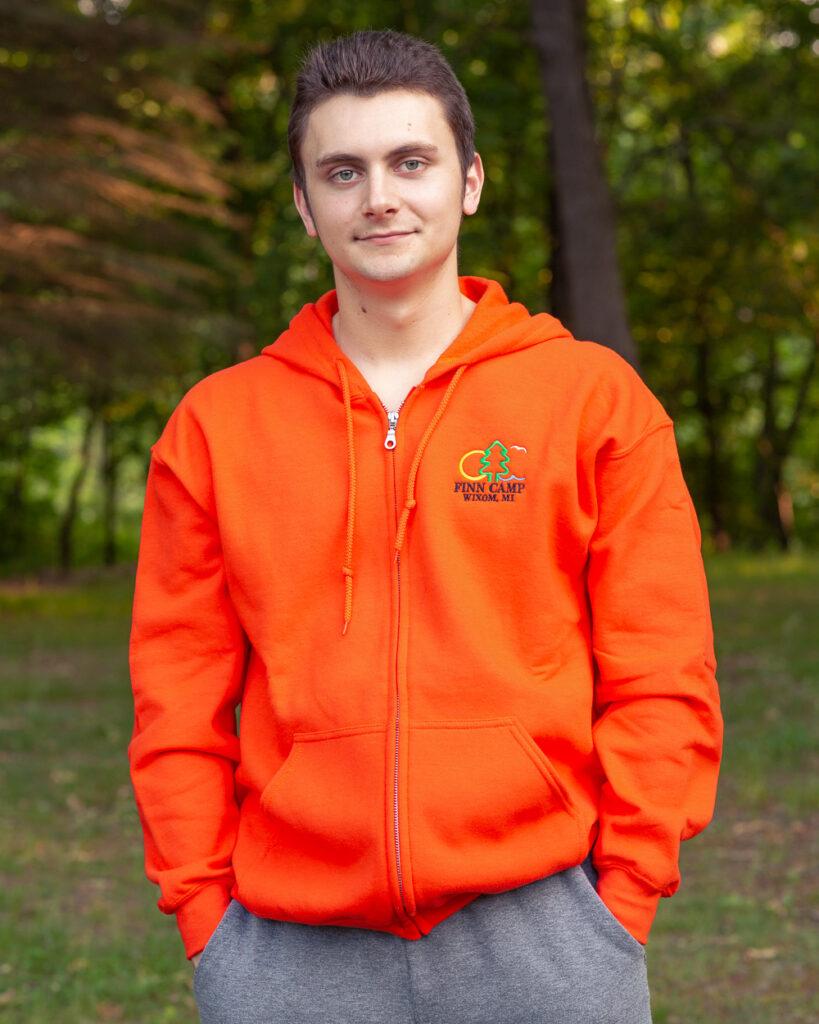 Orange sweatshirt hoody