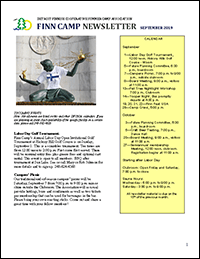 Finn Camp Newsletter
